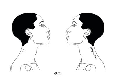 illustration 1 du recueil au-delà de nos maux de Mahuna Poésie