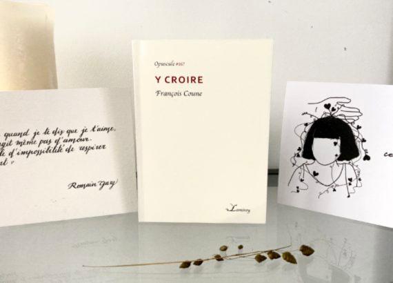 photo chronique littéraire, Y croire de François Coune, par Mahuna Poésie