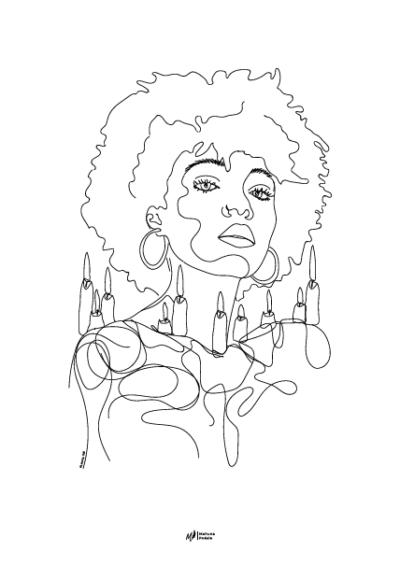 illustration 2 du recueil au-delà de nos maux de Mahuna Poésie