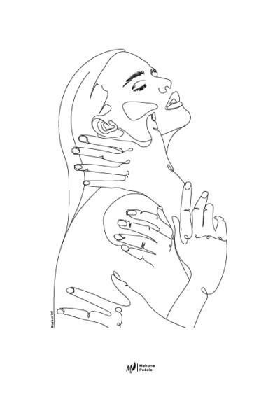 illustration 3 du recueil au-delà de nos maux de Mahuna Poésie