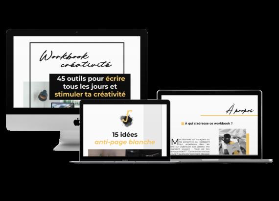 45 outils pour booster sa créativité et écrire tous les jours - workbook